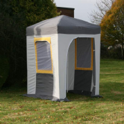 1.5m x 1.5m Pop Up Shelter Gazebo Complete (Top & Sides Are All 1 Piece)